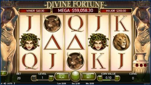 Divine Fortune ジャックポット炸裂 スロット画像
